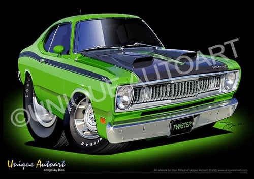 PLYMOUTH DUSTER CARTOON PRINTS (unframed)