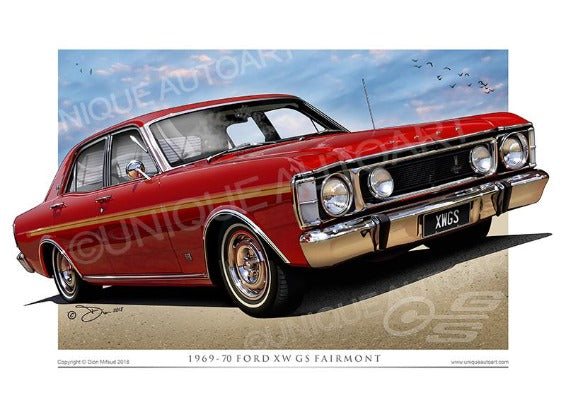 Ford Candy Apple Red XW GS