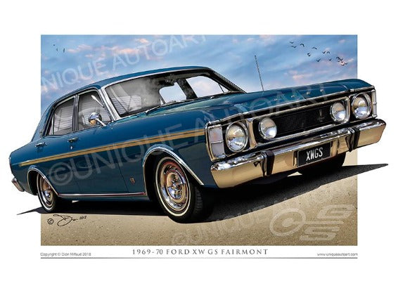 Ford XW Fairmont Starlight Blue