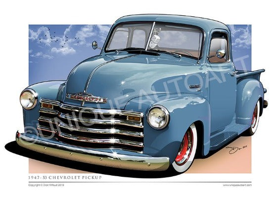 TRANSPORT BLUE CHEVY TRUCK