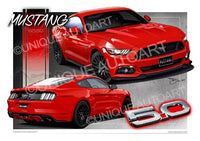 Mustang Race Red