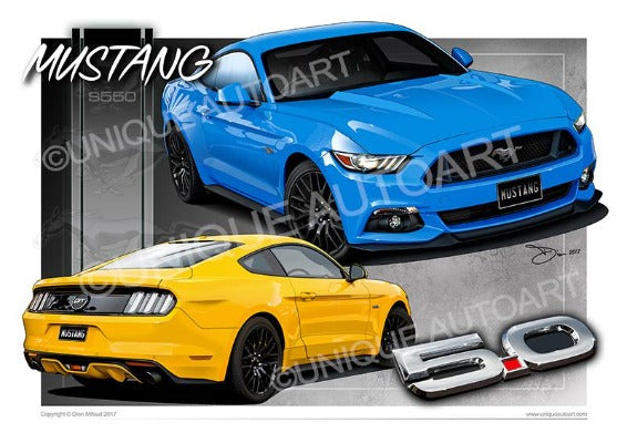 Mustang Coupe GT Grabber Blue