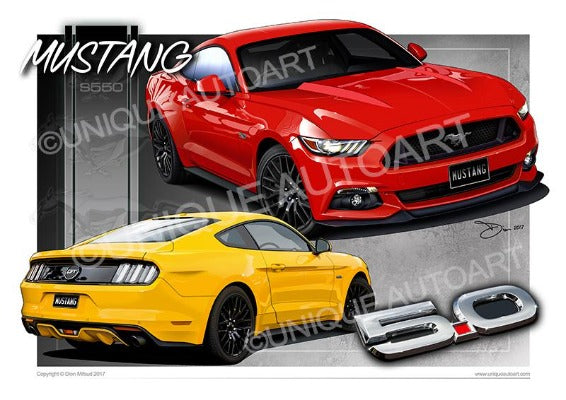 New Mustang Art Prints