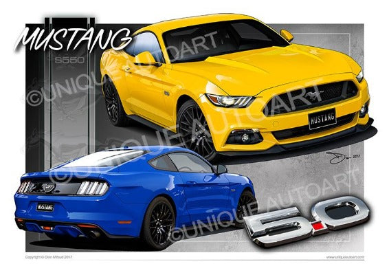 Mustang Coupe GT Triple Yellow