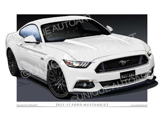 2015 MUSTANG DRAWINGS GT OXFORD WHITE