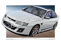 VZ HSV Car Drawings - Heron White