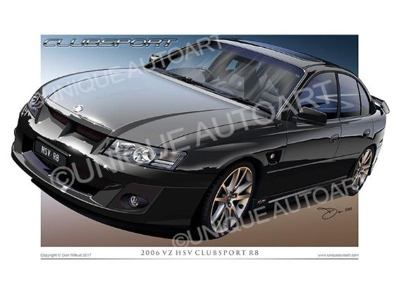 VZ Commodore Car Drawings - Phantom Mica