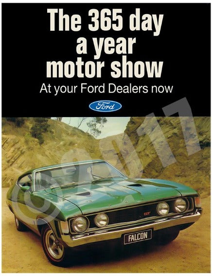 FALCON XA GT HARDTOP COLOUR ADVERT CIRCA 1972 (unframed)