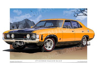 XA Falcon- XA GT- Yellow Fire