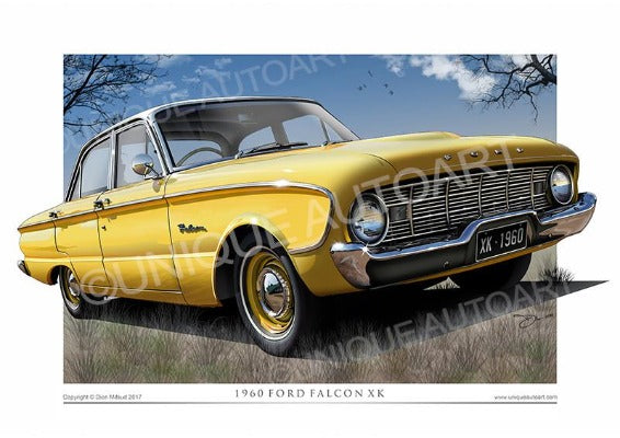 1960 XK Falcon- Yellow Petal