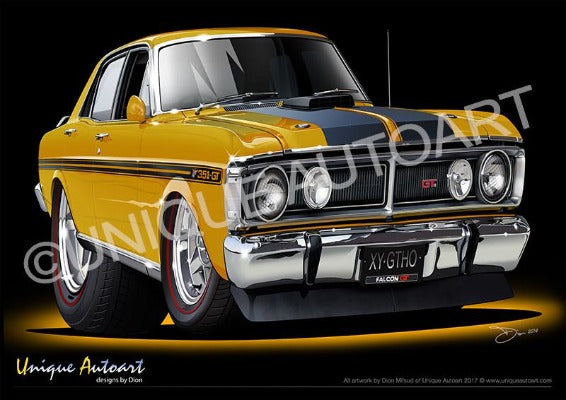 FALCON XY GTHO - YELLOW OCHRE