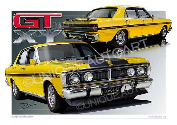 XY GT FALCON CANVAS PRINTS- GIFTS FOR MEN (unframed)
