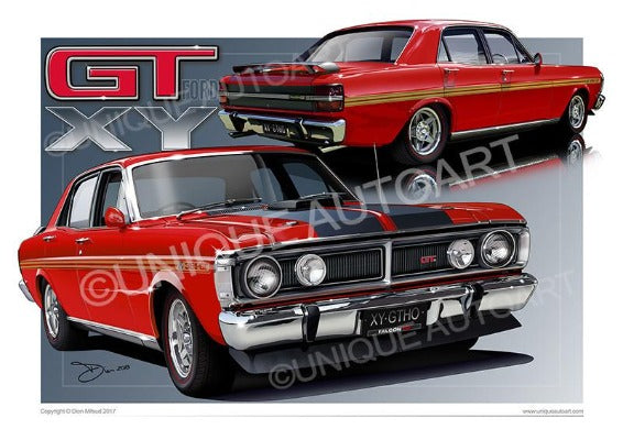 FALCON GT CAR DRAWINGS