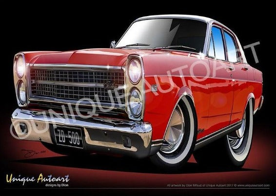 ZD FAIRLANE- TRACK RED