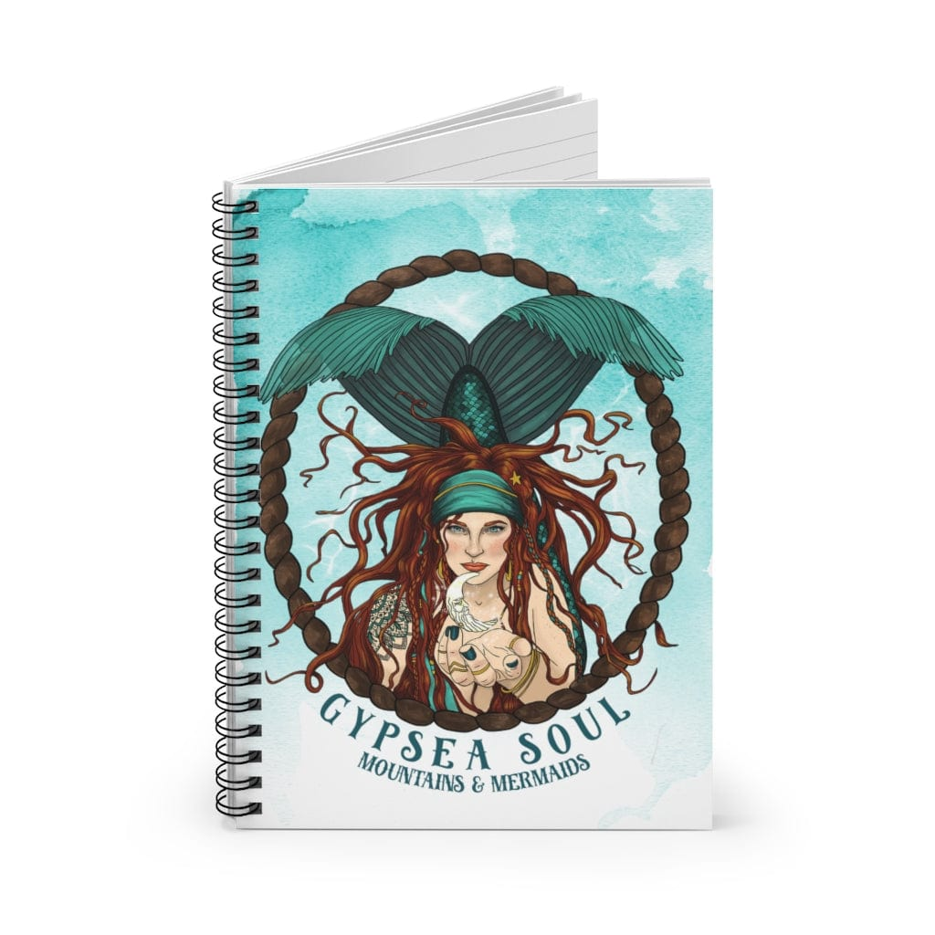 Gypsea Soul Spiral Notebook - Ruled Line - Mountains & Mermaids