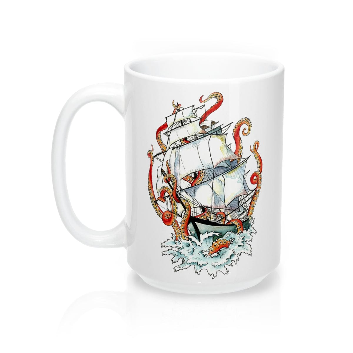 Nautical Vintage Kraken Coffee Mug - Mountains & Mermaids
