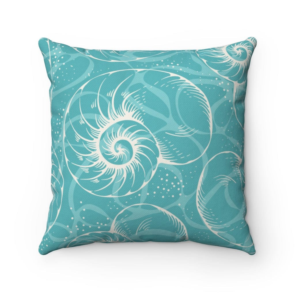 Sea Glass Teal Square Pillow - Mountains & Mermaids