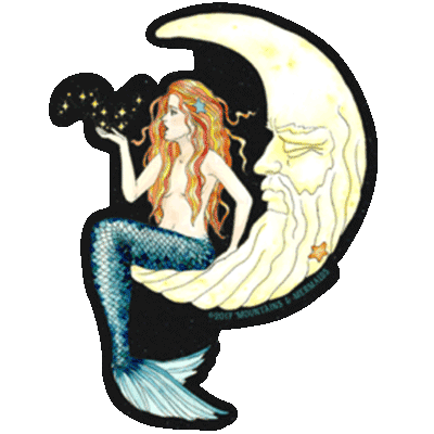 Mermaid In The Moon Magnet - Mountains & Mermaids