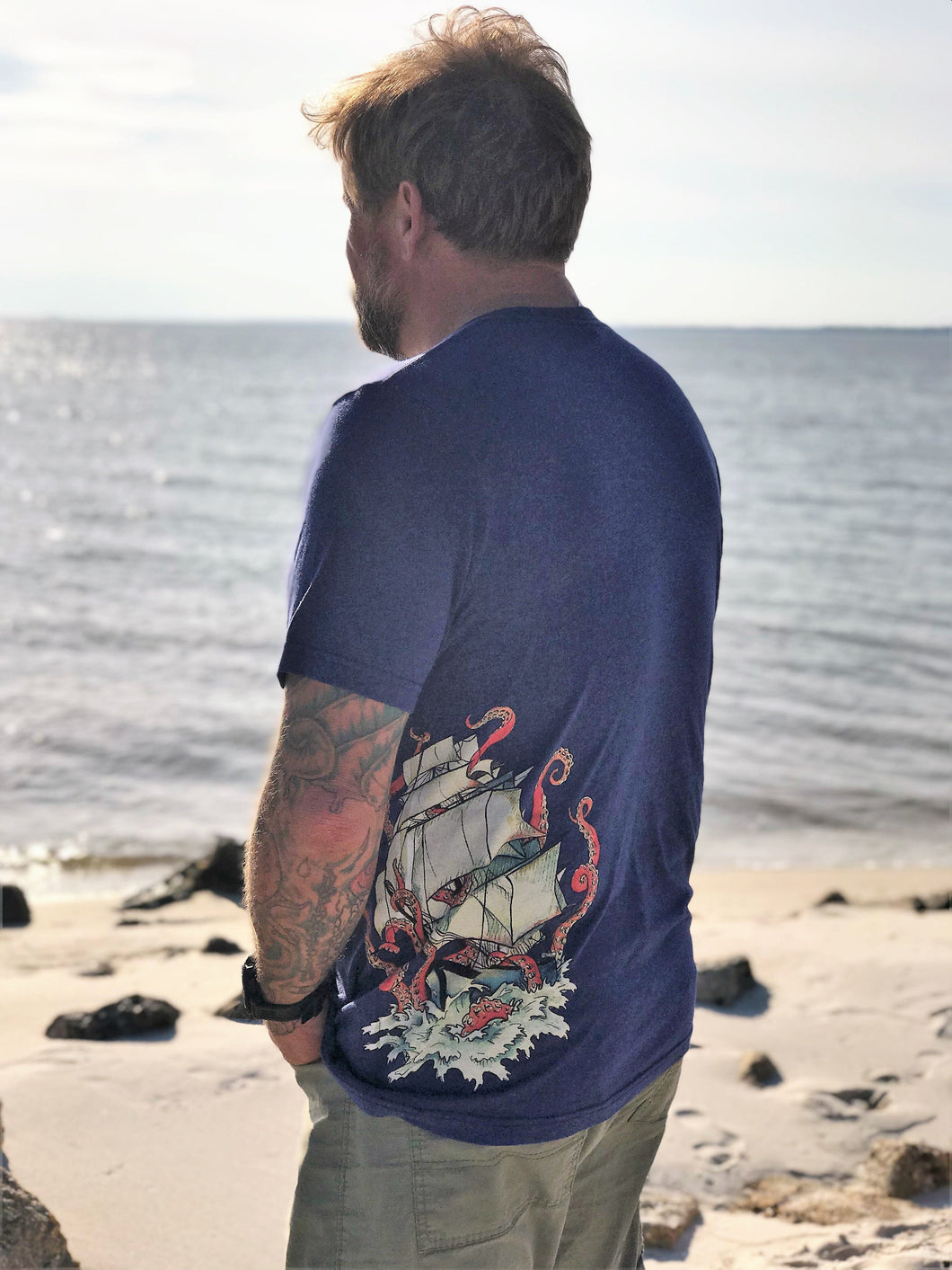 Nautical Vintage Kraken Unisex Short Sleeve T-Shirt