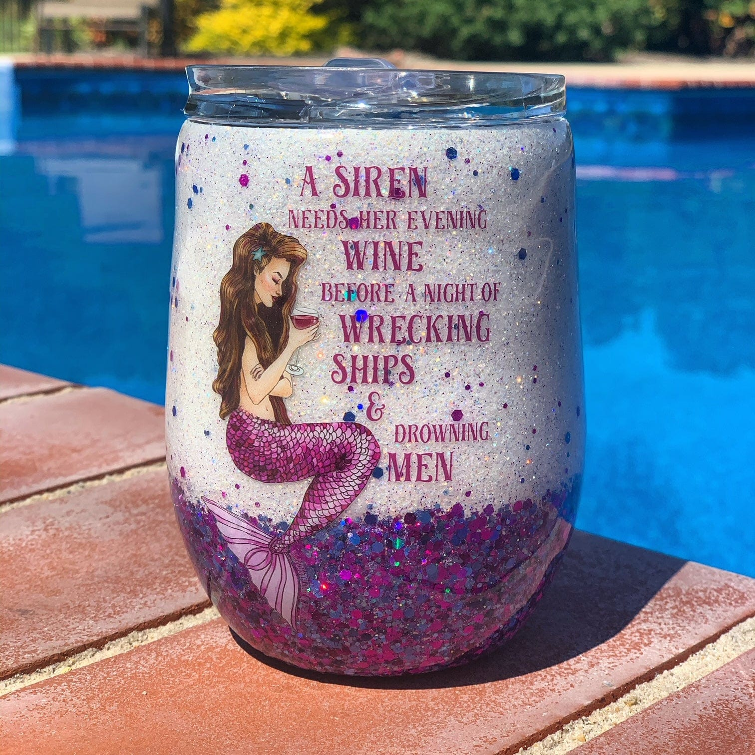 Siren's Grog Wine Tumbler - Mountains & Mermaids