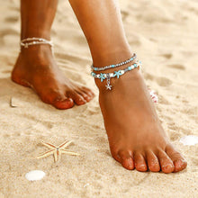 SHELL STARFISH TURTLE ANKLET
