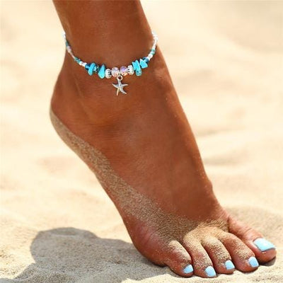 Starfish & Wave Anklet Set - Mountains & Mermaids