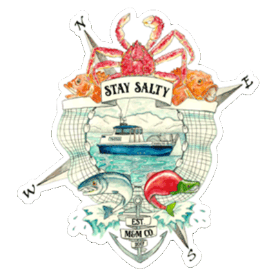 Stay Salty AK Magnet - Mountains & Mermaids