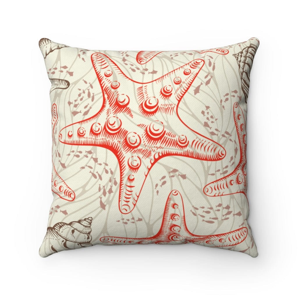 Goin' Coastal Square Pillow - Mountains & Mermaids