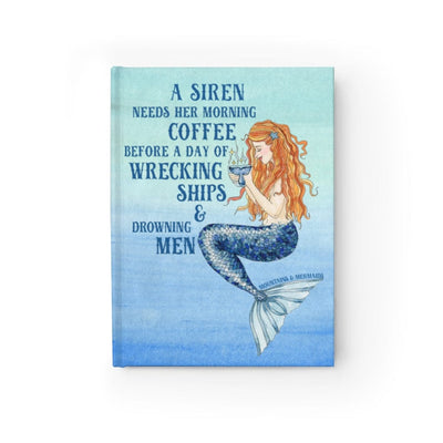 Siren's Brew Journal - Ruled Line - Mountains & Mermaids