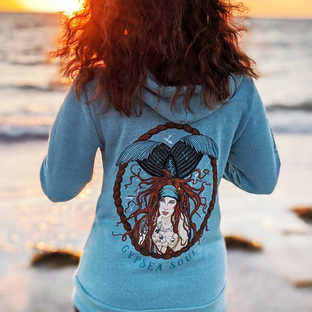 GypSea Soul Siren Full-Zip Unisex Hoodie - Mountains & Mermaids