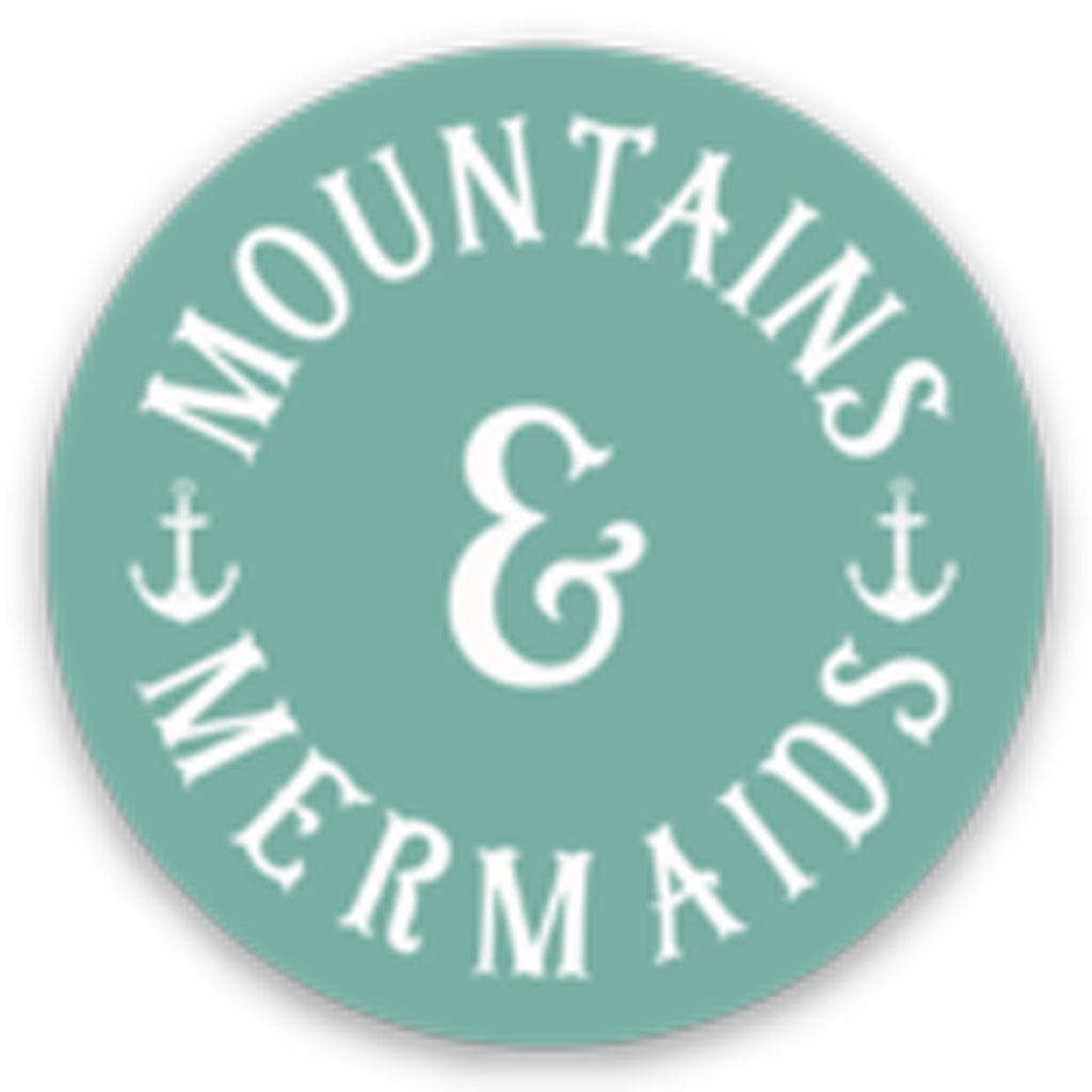 Mountains & Mermaids Classic Teal Logo Sticker - Mountains & Mermaids