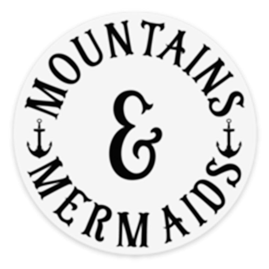 Mountains & Mermaids Classic Logo Sticker - Mountains & Mermaids