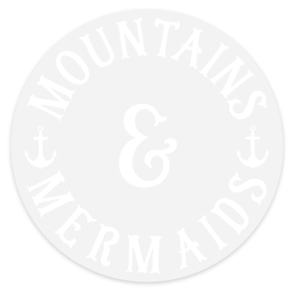 Mountains & Mermaids Classic White Logo Sticker - Mountains & Mermaids