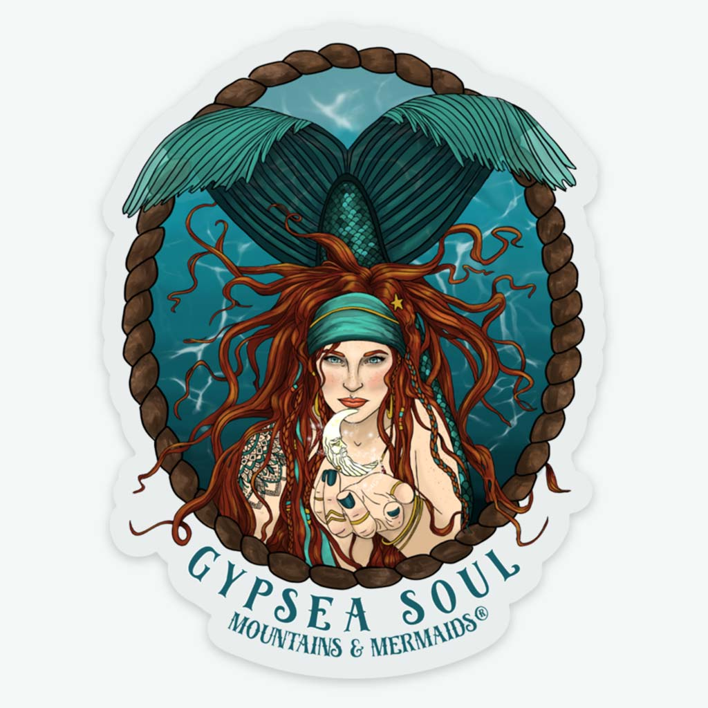 Gypsea Soul Siren Sticker - Mountains & Mermaids