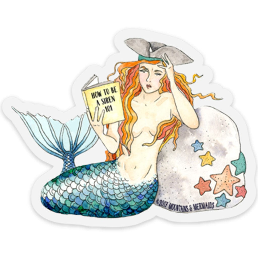 How to Be A Siren 101 Sticker - Mountains & Mermaids