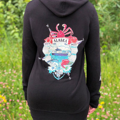 Keep'n Alaska Salty Hoodie Dress - Mountains & Mermaids