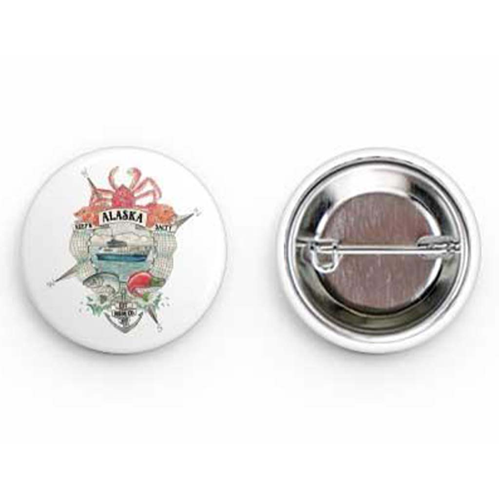 Keep'n Alaska Salty Round Buttons - Mountains & Mermaids