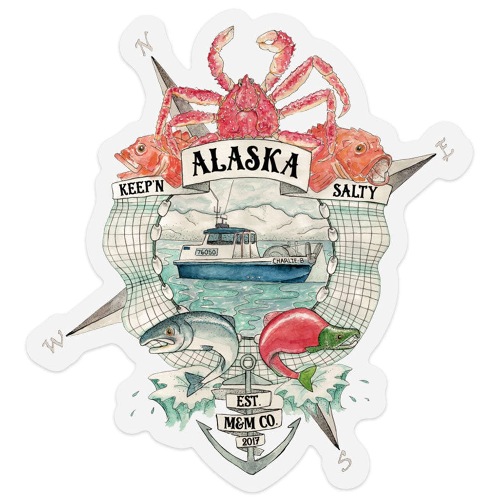 Keep'n Alaska Salty Adventure Decal - Mountains & Mermaids