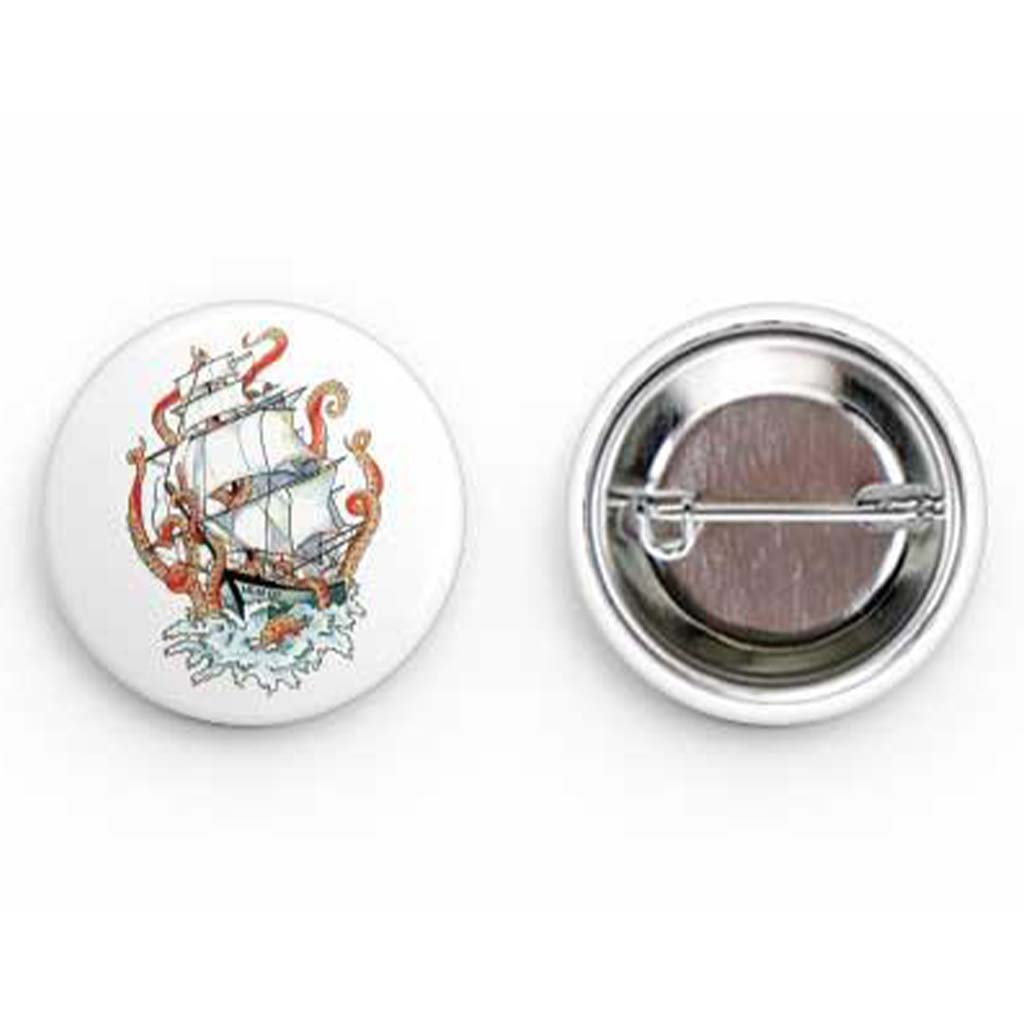 Kraken Round Buttons - Mountains & Mermaids