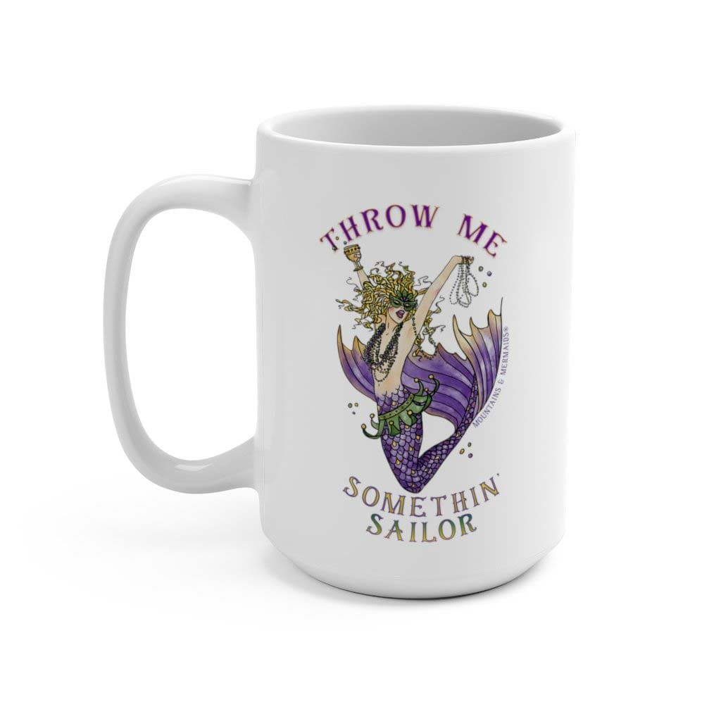 Mardi Gras Mermaid Mug - Mountains & Mermaids