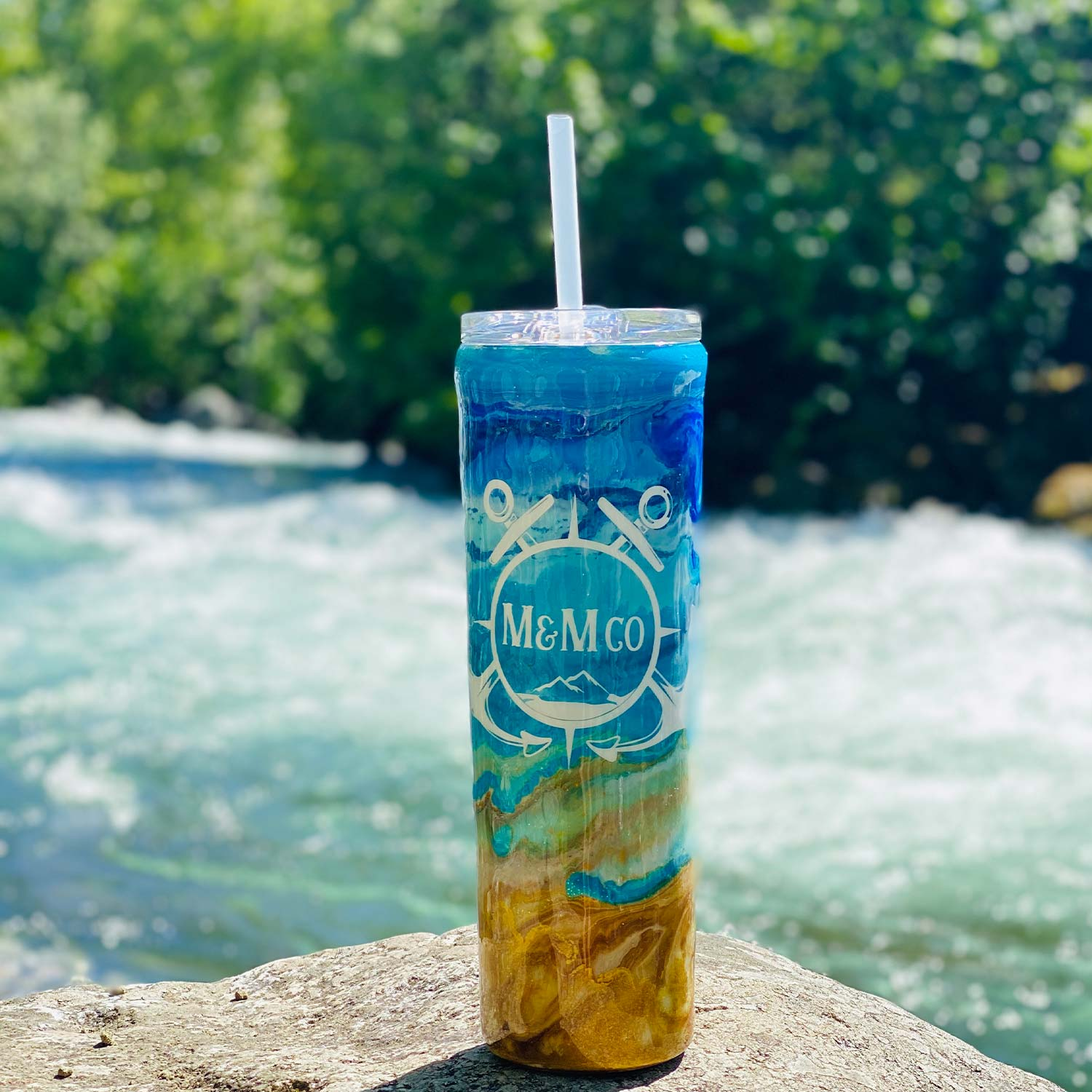 Beach Bum Maritime Tumbler - Mountains & Mermaids