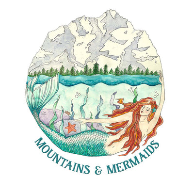 Mountain Mermaid Art Print - Mountains & Mermaids