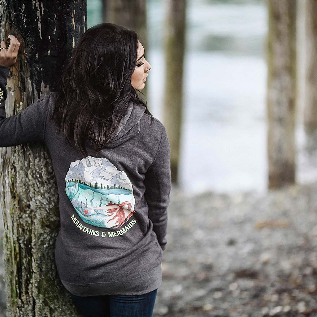 Mountain Mermaid Hoodie Dress - Mountains & Mermaids