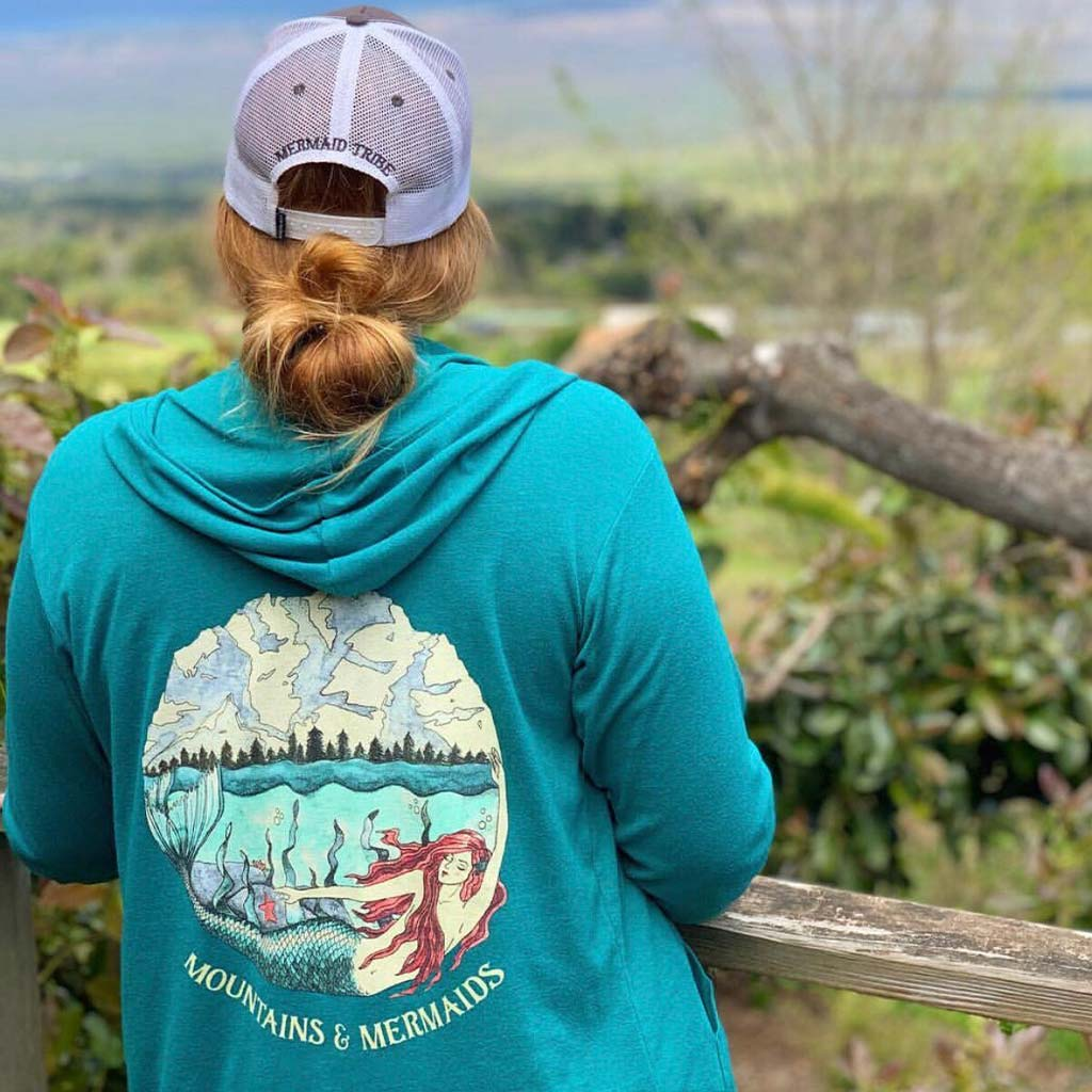 Mountain Mermaid Zip Hoodie - Mountains & Mermaids