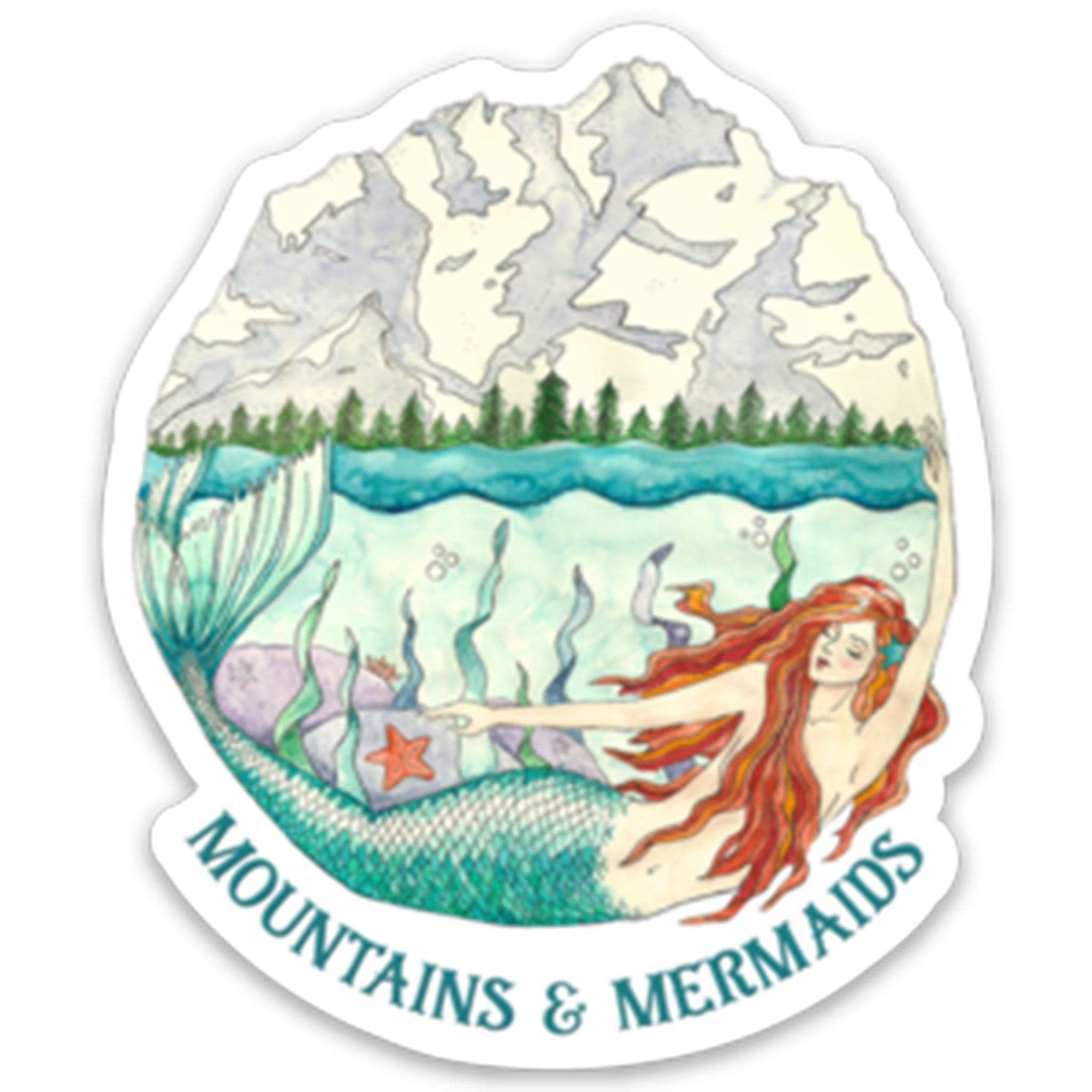Mountain Mermaid Magnet - Mountains & Mermaids