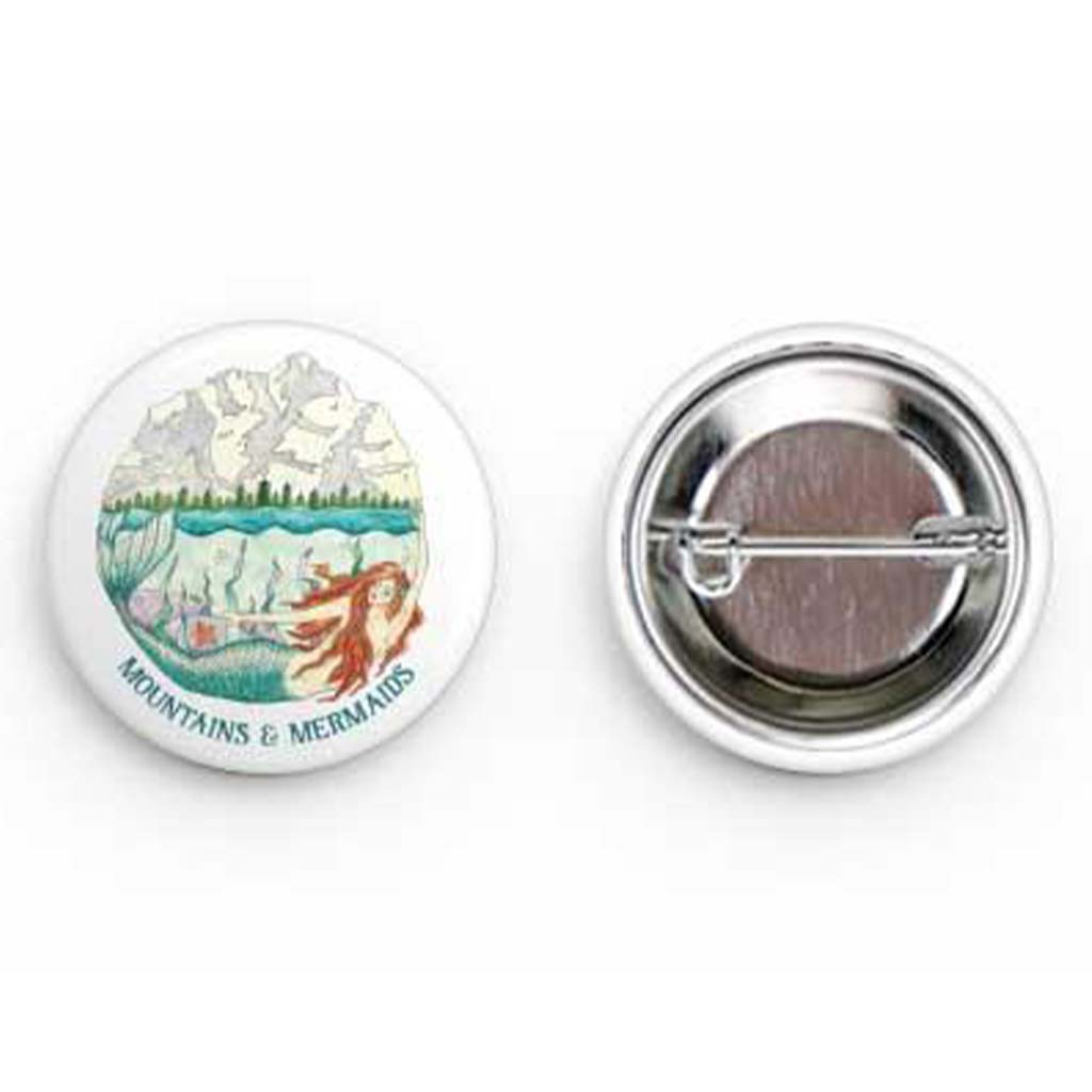 Mountain Mermaid Round Buttons - Mountains & Mermaids