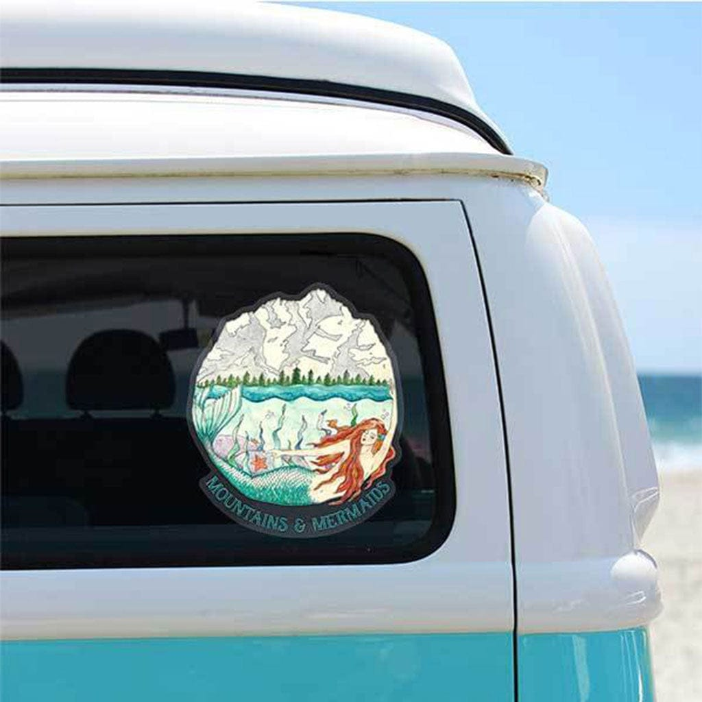 Mountain Mermaid Adventure Decal - Mountains & Mermaids