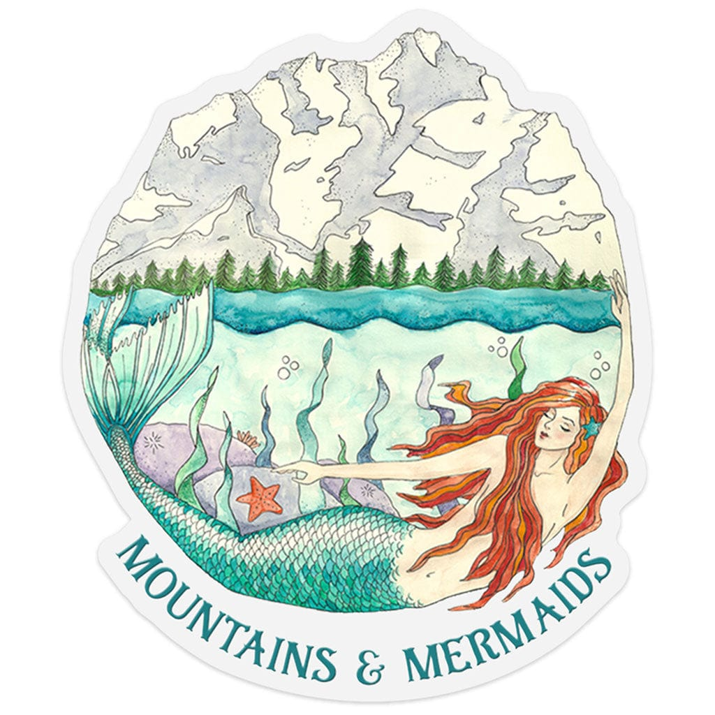 Mountain Mermaid Sticker - Mountains & Mermaids
