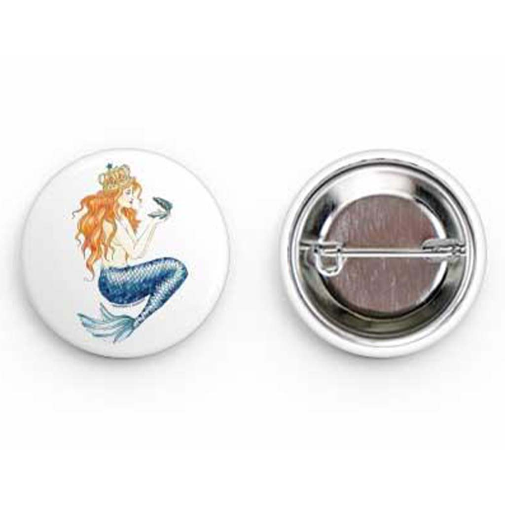 Pearl Round Buttons - Mountains & Mermaids