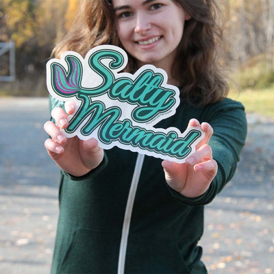 Salty Mermaid Adventure Decal - Mountains & Mermaids